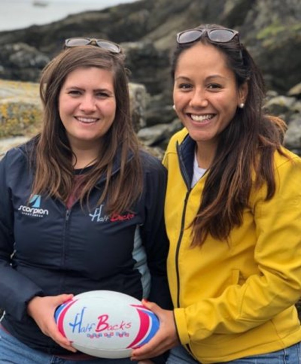 New Halfbacks Rugby owners Louise and Nicole